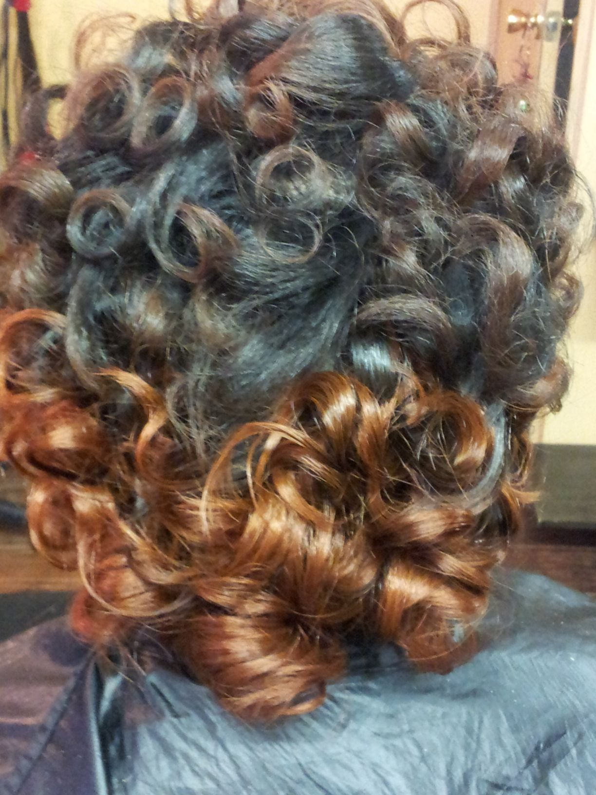 feather curl and color